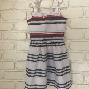 Gymboree striped dress size 7